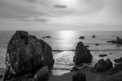 Photograph - Seascape Jenner California IIi Bw by David Gordon