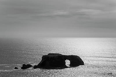 Photograph - Seascape Jenner California V Bw by David Gordon