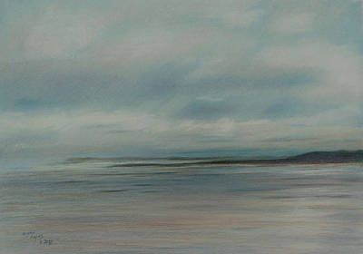 Drawing - Seascape by Lynn Hughes