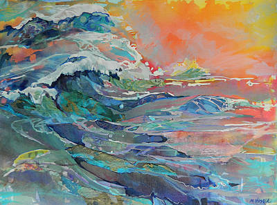Painting - Acrylic Mixed Media Sea Landscape by Marty Husted