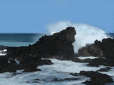 Digital Art - Seascape by Michaelalonzo Kominsky