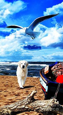 Digital Art - Seascape - Paesaggio Marino by Zedi