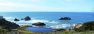 Photograph - Seascape San Francisco Sutro Bath Pacific Ocean Shore by Irina Sztukowski