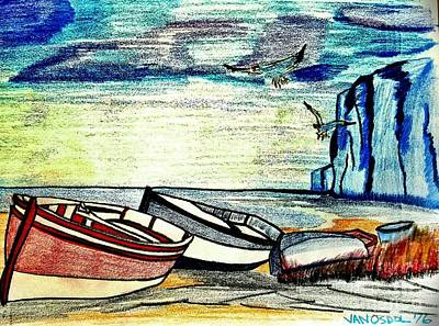 Seascape Skiffs Seagull Skies Original