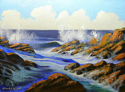 Painting - Seascape Study 2 by Frank Wilson