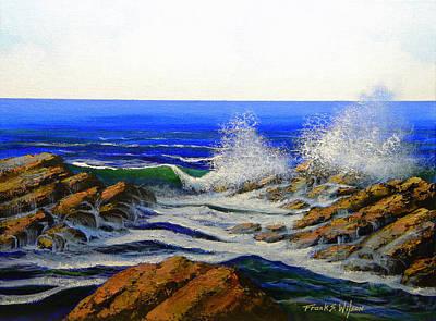 Seascape Study 4 Art Print by Frank Wilson