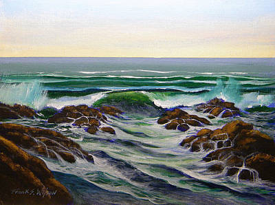 Painting - Seascape Study 6 by Frank Wilson