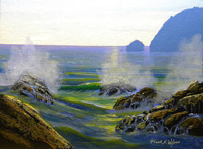 Painting - Seascape Study 7 by Frank Wilson