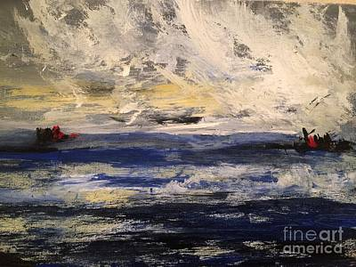 Painting - Seascape by Trilby Cole