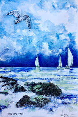 Painting - Seascape by Victor Minca
