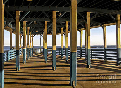 Seascape Walk On The Pier Art Print