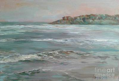 Sea View Painting - Seascape Winter by Angelina Nedin