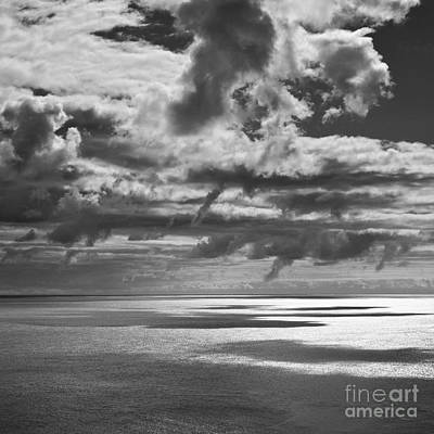 Photograph - Seascape With Dangly Clouds by Paul Davenport