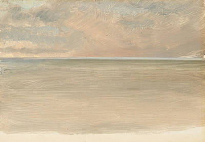 In The Distance Painting - Seascape With Icecap In The Distance by Frederic Edwin Church