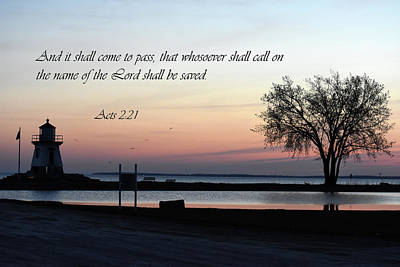 Photograph - Seascape With Scripture by Ann Bridges