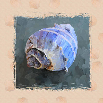 Painting - Seashell IIi Grunge With Border by Jai Johnson
