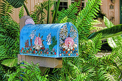 Photograph - Seashell Mailbox - Seaside Delivery by HH Photography of Florida