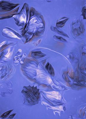 Mixed Media - Seashell Medley In Violet by Lynda Lehmann