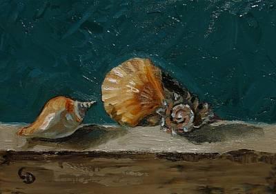 Painting - Seashells No. 6 by Grace Diehl