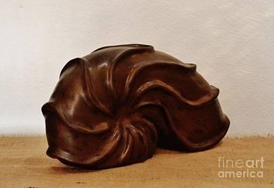 Ceramic Art - Seashell by Paula Ludovino