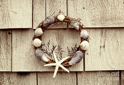 Hand Made Photograph - Seashell Wreath by Juli Scalzi