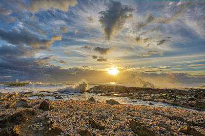 Photograph - Seashells At Sunrise by Juergen Roth