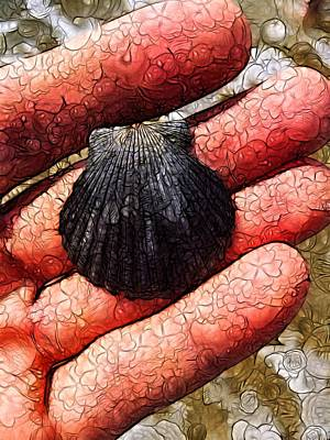 Digital Art - Seashells By The Seashore by Nick Heap