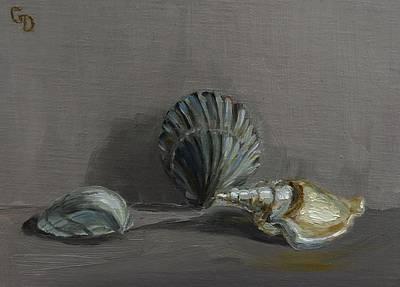 Painting - Seashells No.1 by Grace Diehl