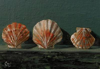 Painting - Seashells No.7 by Grace Diehl