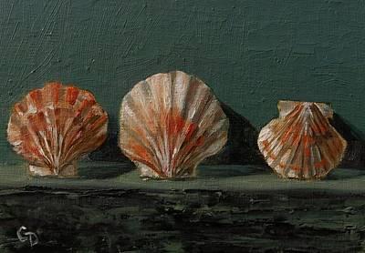Painting - Seashells No.7 by Grace Diehl