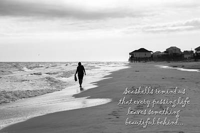 Photograph - Seashells Remind Us by Deb Buchanan