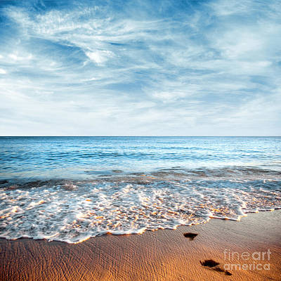 Sunny Photograph - Seashore by Carlos Caetano
