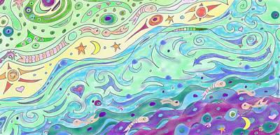 Drawing - Seashore by Julia Woodman