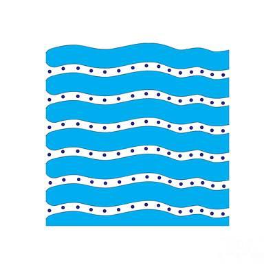 Seashore Pattern Art Print