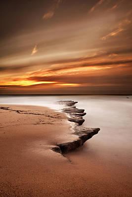 Sunset Photograph - Seashore Wonders by Jorge Maia