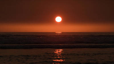 Photograph - Seaside Beach Oregon Sunset by Lawrence S Richardson Jr