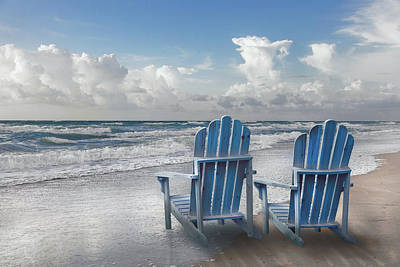 Photograph - Seaside Blues In The Light Of Dawn by Debra and Dave Vanderlaan