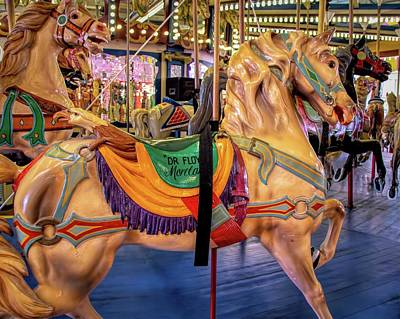 Photograph - Seaside Carousel Stander by Kristia Adams