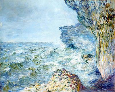 Fecamp Painting -  Seaside by Claude Mone