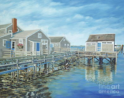 Boat Basin Painting - Seaside Cottages by Danielle Perry