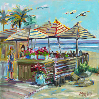 Painting - Seaside Dining, Plein Air by Marie Massey