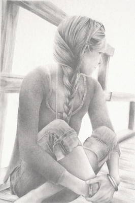 Wood Necklace Drawing - Seaside Dreamer by Lauren Bigelow