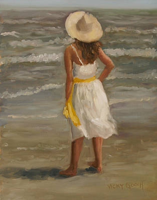 Galveston Painting - Seaside Dreams by Vicky Gooch