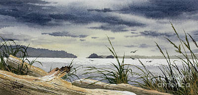 Painting - Seaside Driftwood Beauty by James Williamson