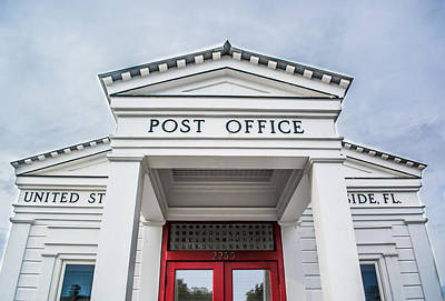 Seaside Florida Post Office Art Print by Shelby  Young