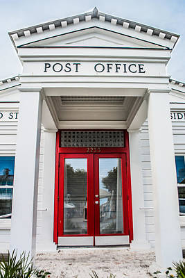 Seaside Florida Post Office Vertical Art Print by Shelby  Young