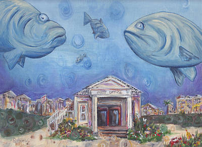 Postoffices Painting - Seaside Grouper by Robin Wiesneth