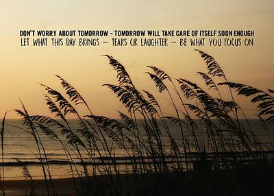 Photograph - Seaside Guardians Quote by JAMART Photography
