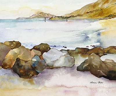 Painting - Seaside by Han Choi - Printscapes