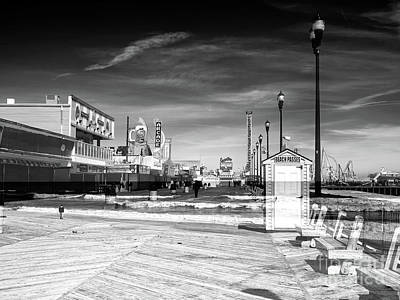 Photograph - Seaside Heights Boardwalk Double Exposure by John Rizzuto